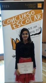 GANADOR de la Comunidad Autónoma de La Rioja - Alumno: Laila Garrido Fernández - Centro: C.E.I.P. Sáenz de Tejada - Curso: 6º Primaria - Localidad: Quel