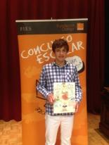GANADOR de la Comunidad Autónoma de Madrid - Alumno: Yago Soriano González - Centro: Colegio San Agustín - Curso: 2ºESO - Localidad: Madrid