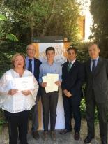 El ganador de Andalucía, Fernando Borrallo Forte, con las Autoridades