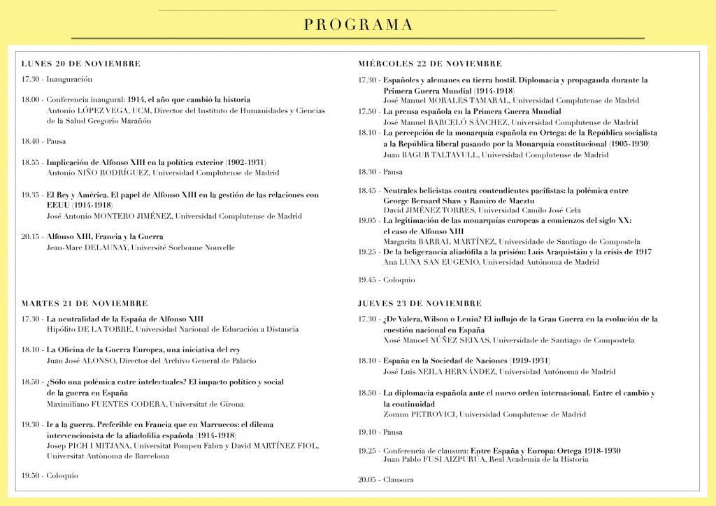 programa XI jornada