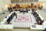 Los ganadores, junto con sus profesores y familiares en el Palacio del Pardo con motivo de la 35º Edición