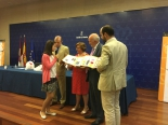 Ganadora de Castilla la Mancha explicando su trabajo