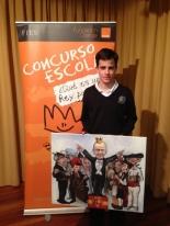 GANADOR del Principado de Asturias - Alumno: Álvaro Otonín Aldasoro - Centro: Colegio Virgen Milagrosa - Curso: 2º ESO - Localidad: Oviedo