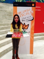 Ganadora de Cantabria: Patricia Juárez Saiz - Colegio Antonio Robines - Curso: 1º ESO - Localidad: Vioño - Profesora: Aurora Cayón