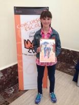 La ganadora de Castilla y León: Alexia Cárcamo López-Quintana - Colegio: CEIP San Isidro - Curso: 6º Primaria - Localidad: Medina del Pomar, Burgos - Profesora: Azucena Martínez