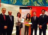 La ganadora de Cantabria y Autoridades