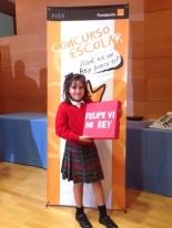 GANADORA DE MURCIA: Ana Tárraga Garré - Colegio Sagrado Corazón - 3º Primaria - San Javier - Murcia - Profesora: Esther Fructuoso