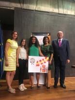 La ganadora de Canarias, Ana Lopez Aragón, con las Autoridades.