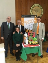 La ganadora de Extremadura, Irene Palacios López, con Autoridades.