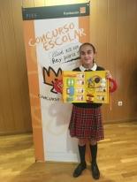 La ganadora de Valencia, Teresa Sánchez Vercher, mostrando su trabajo.