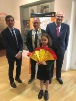 La ganadora de Galicia, Irene Valderruten Cordero, y Autoridades.